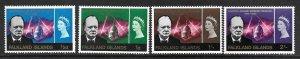 1966   FALKLAND ISLANDS  -  SG.  223 / 226  -  WINSTON CHURCHILL   -  MNH