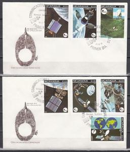 Nicaragua, Scott cat. 1129-1132, C989-C991. Space issue on 2 First day covers.