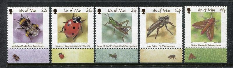 Isle of Man 895-899, MNH, Insects 2001. White-tailed bumblebee. x26179