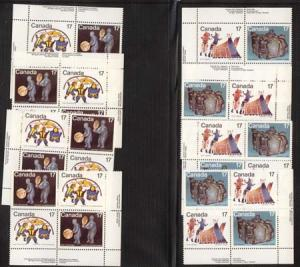 Canada USC #835-838 Mint 1979 Inuit Shelter & Community - Two MS of IB's VF-NH