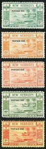 New Hebrides SG D6/D10 1938 Post Due set Fresh U/M (5c pulled perf)
