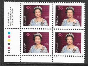 Canada 1164: 38c Queen Elizabeth II, plate block, MNH, VF