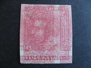 Spain double, inverted impression print error in Sc 244 MNG H thin, see pictures