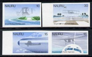 Nauru 1979 Flight Anniversaries imperf set of 4 unmounted...