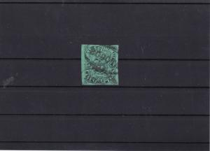 colombia 1870 5 peso used stamp cat £45  ref 12571