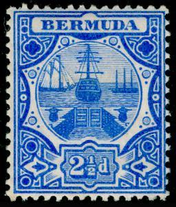 BERMUDA SG41, 2½d Blue, LH MINT. Cat £27.
