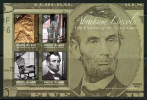 UNION ISLAND  16th PRESIDENT ABRAHAM LINCOLN  IMPERFORATE SHEET I   MINT NH