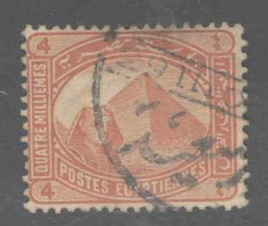 EGYPT Scott 47 Used classic Sphinx and Pyramid stamp
