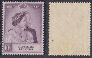 Pitcairn Islands #12 MH Silver Wedding CV $43