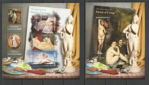 ST807 2016 GUINEA-BISSAU ART PAINTINGS ORSAY MUSEUM KB+BL MNH STAMPS