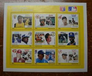 Baseball Stamps - Major League Baseball in Stamps - Sheet of 9 - MNH