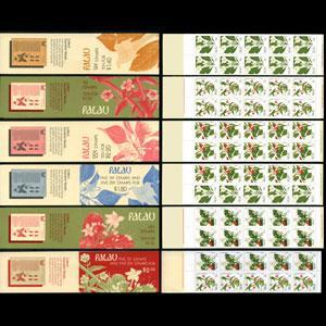 PALAU 1987 - Scott# 130a-3b Booklets-Flowers NH