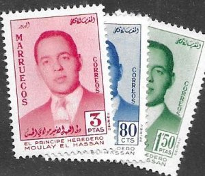Morocco Northern Zone 18-20 MNH C/Set