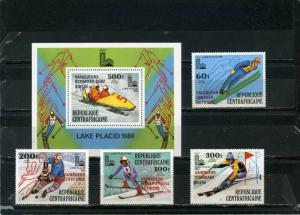 COMORO ISLANDS 1990 WINTER OLYMPIC GAMES ALBERTVILLE SET OF 4 STAMPS MNH