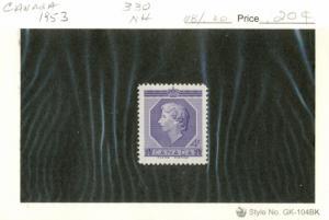 Canada - #330 - MINT NH -1953 - Item C318NS