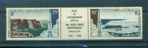 Fr. Antarctic Terr. - Sc# C16. 1968 Space. MNH Strip. $40.00.