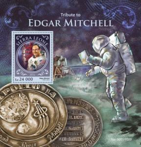 SIERRA LEONE 2016 SHEET EDGAR MITCHELL ASTRONAUTS SPACE srl16211b
