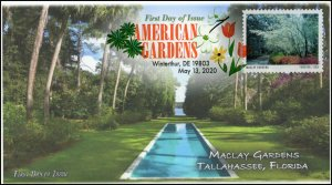 20-121, 2020, American Gardens, Digital Color Postmark, First Day Cover, Maclay