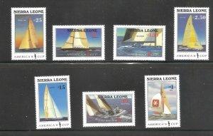Sierra Leone  (1987)  - Scott # 836 - 842,