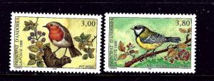 French Andorra 462-63 MNH 1996 Birds