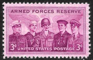 Scott 1067  3¢ Armed Forces Reserves Single, MNH