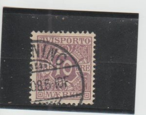 Denmark  Scott#  P4  Used  (1907 Newspaper Stamp)
