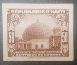 L) 1933 HAITI, CHAPELLE DE CHRISTOPHE MILOT, ARCHITECTURE, DIE PROOFS, CARDBOARD
