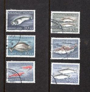 Greenland 136-141  VF, Postally Used, Complete Set, CV $29.00 .... 2510049