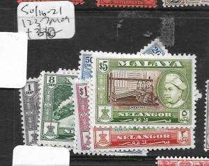 MALAYA SELANGOR (P0612B) SG 116-21, 123-7  MOG