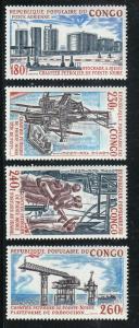 Congo, Peoples Republic Scott #C151-54 MH