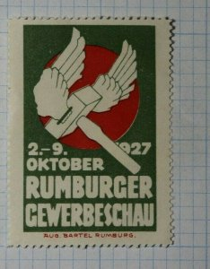 Rumburger Trade Show 1927 Exposition Poster Stamp Ads