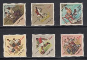 Timor    #313-18   mnh    cat $6.40