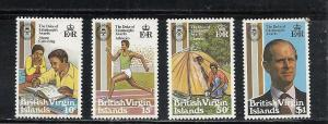 Virgin Isands #409-12 comp mnh cv $1.40