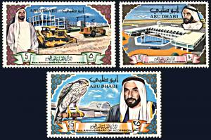 Abu Dhabi 49-51, MNH, 2nd Anniversary of Sheikh Accession