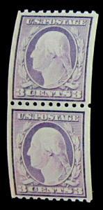 U.S. 489 FVF MNH PAIR $75.00 Fresh