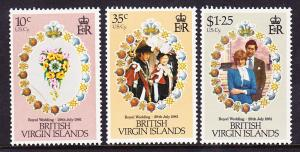 British Virgin Islands MNH 406-8 Royal Wedding 1981
