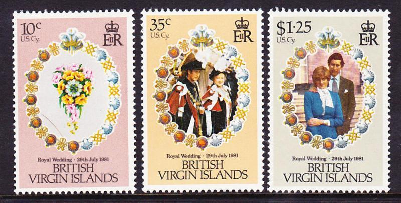 British Virgin Islands MNH 406-8 Royal Wedding 1981