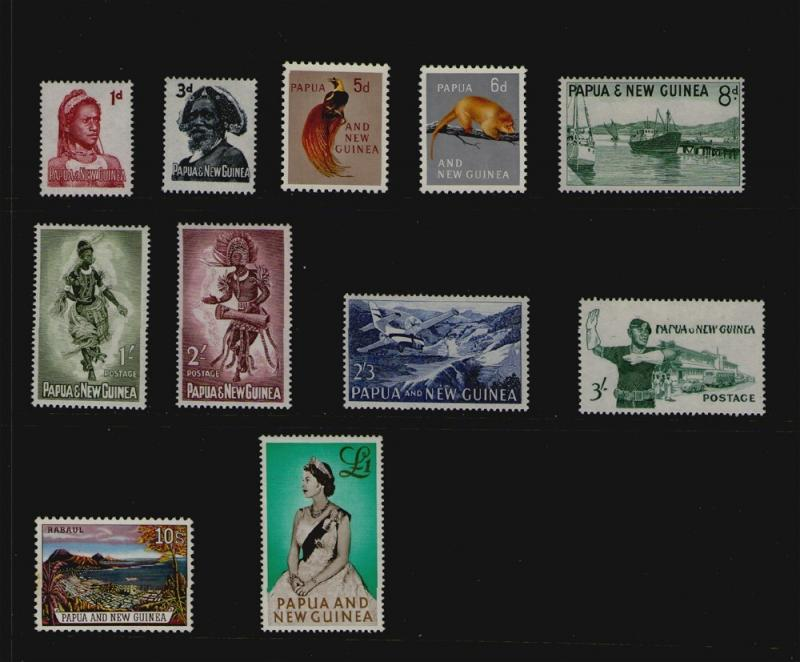 Papua New Guinea 1961 set Sc 153-163 MH