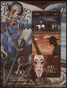 MEXICO 2443, 400th Anniv Publication of Don Quixote. SS,  MINT, NH. F-VF.