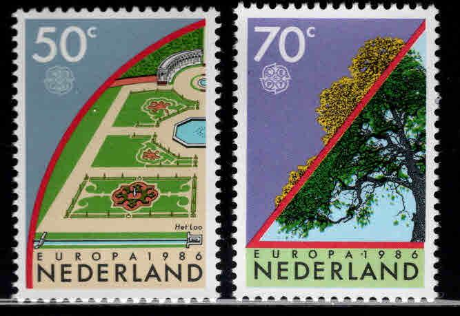 Netherlands Scott 679-680 MNH** Europa 1986 set