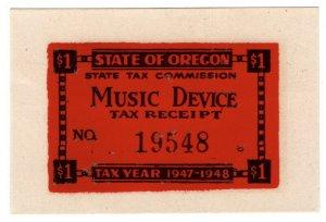 (I.B) US Revenue : Music Device Tax $1 (Oregon)
