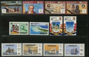 KIRIBATI Sc#504-7, 509-16 1988-89 Four Complete Sets OG Mint NH