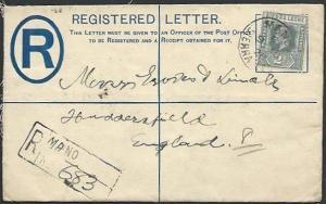 SIERRA LEONE 1928 GV 3d Registered cover to UK, ex MANO....................57002