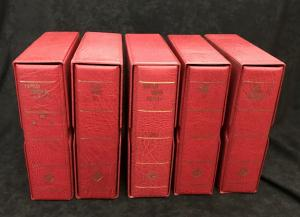 Lighthouse 4 Ring Binders & Slipcases x 5 Weight 5kg+ (Alb 1008)
