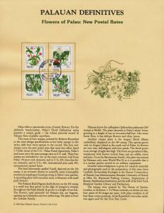 Palau 131,3-4,7 on Souvenir Page - Flowers