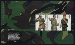 Great Britain 2510b,3b Booklet Panes MNH British Army Uniforms