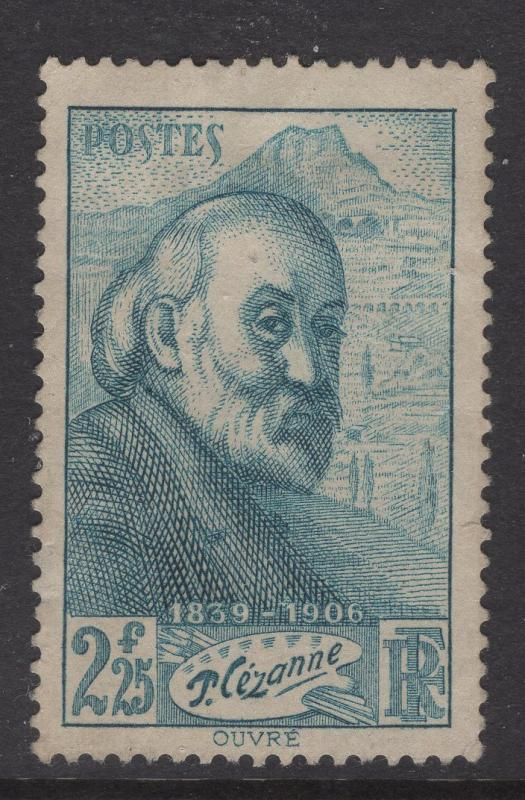 France 1939 Stamps Paul Cezanne Self Portrait Scott 370 F