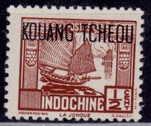 Indo China 1931-41, Junk,1/2c, Kouang Tcheou overprint, MNH