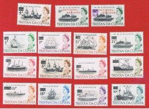 Tristan da Cunha #108 #132-32a #141-152 MVFLH OG  Ships