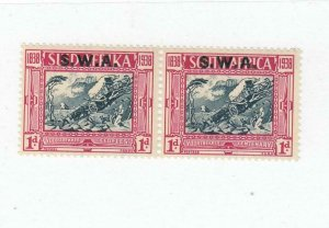 SOUTH WEST AFRICA # B6 VF-MLH PAIR 1d CAT VALUE $27.50